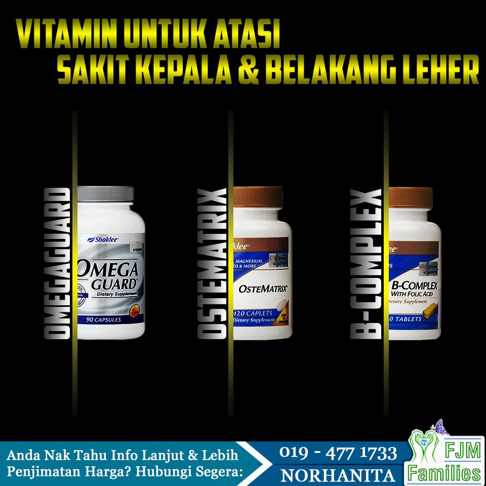 vitamin untuk atasi sakit kepala dan belakang leher