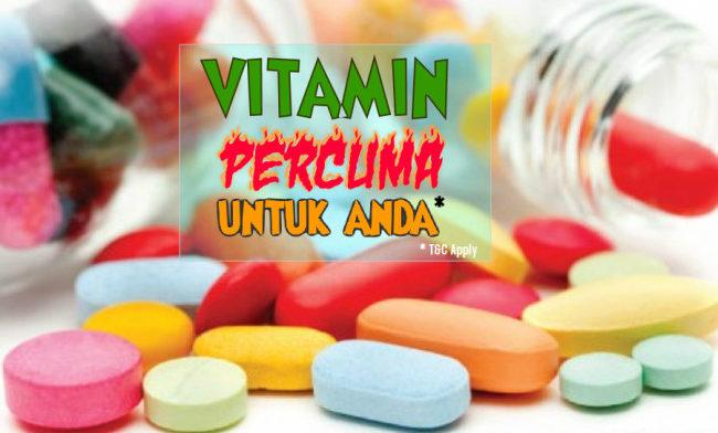 Vitamin Percuma Untuk Masa Terhad