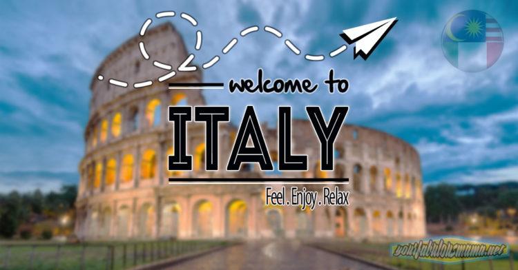 Itinerary Percutian Ke Italy Bertaraf 5 Bintang Secara Percuma