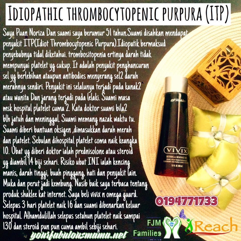 Penyakit Idiopathic Thrombocytopenic Purpura (ITP)