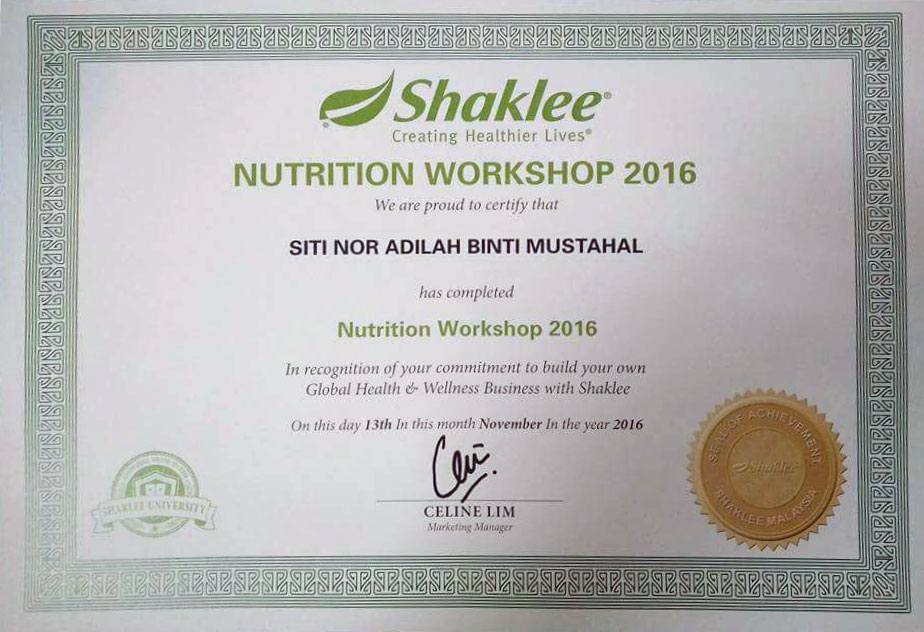 Nutrition Workshop Shaklee
