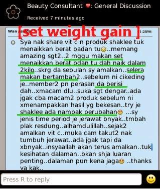 cara tambah berat badan