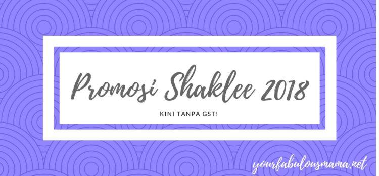 Promosi Shaklee SEPTEMBER 2018
