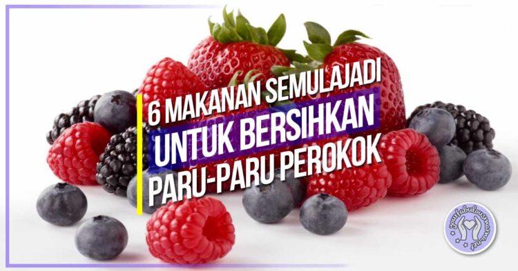 6 Makanan Sihat Untuk Bersihkan Paru-paru Perokok